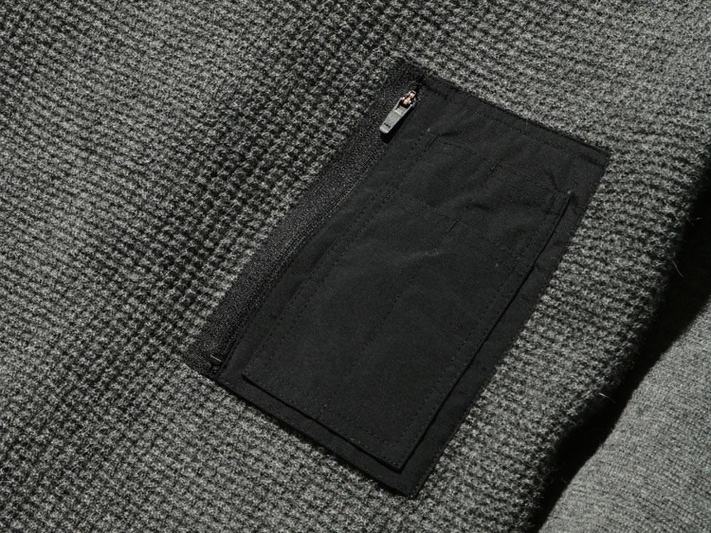 ハイゲージクルーニット M/S ブラック