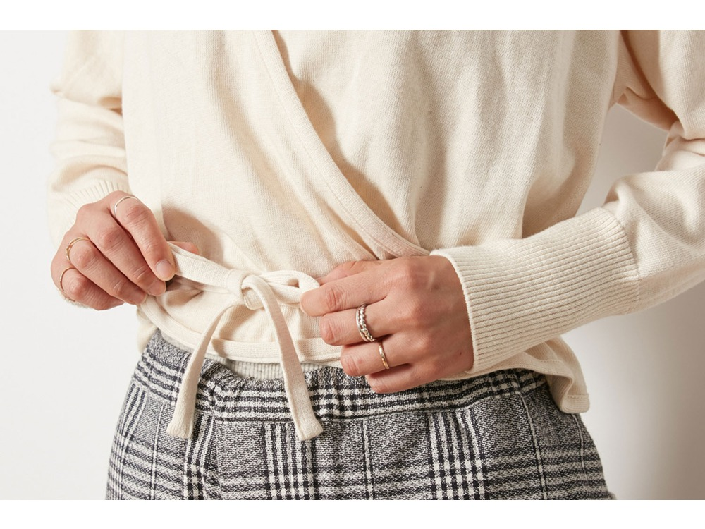 OG Cotton Cache-Coeur Cardigan 4 Ecru