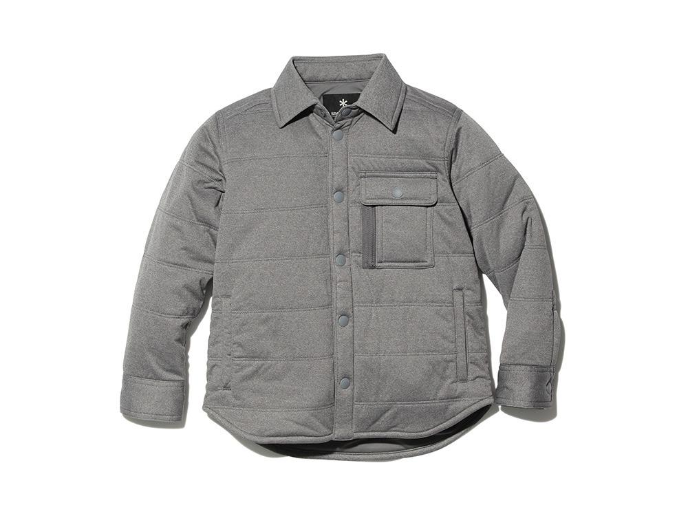 キッズフレキシブルインサレーション シャツ 1 メランジェグレー