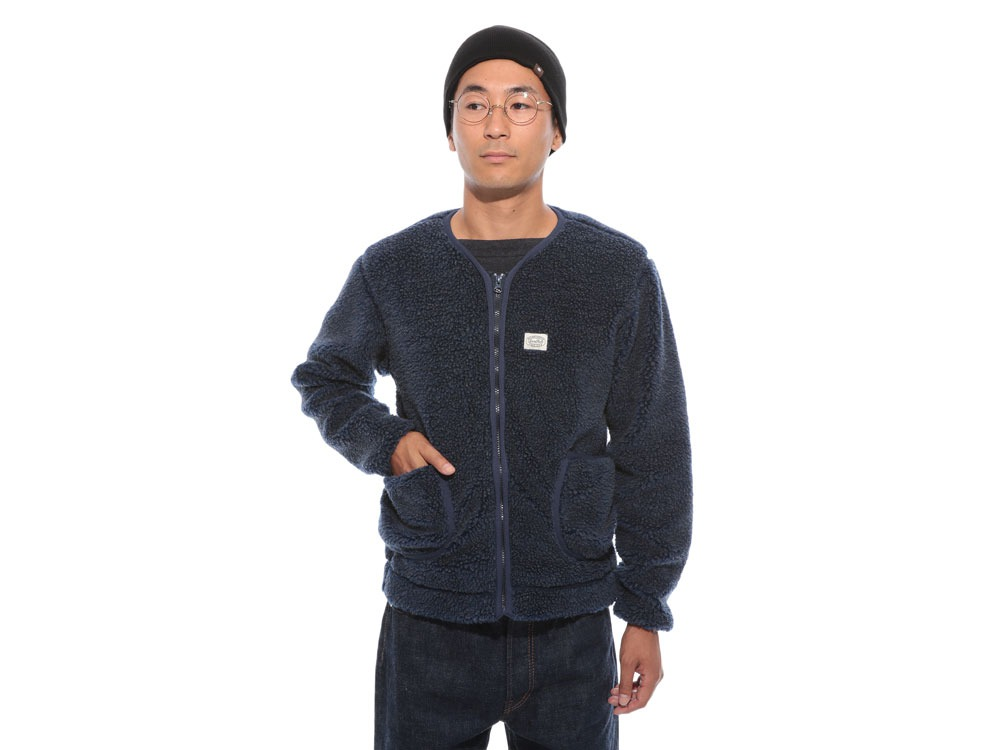 Soft Wool Fleece Jacket S Blue2