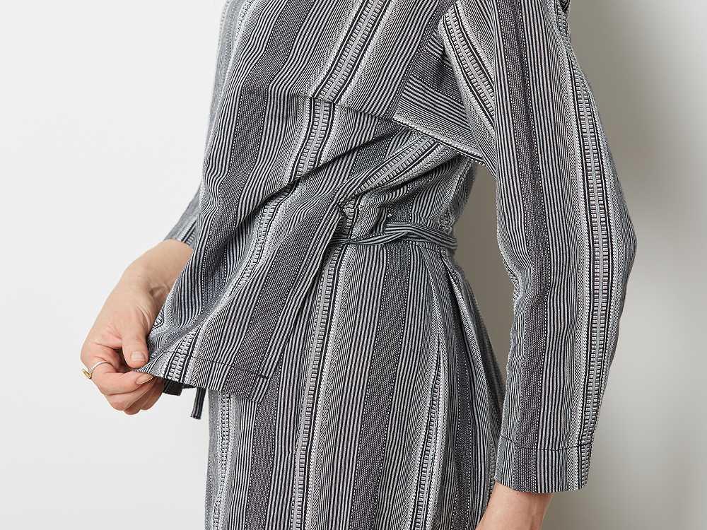 WASHI ストライプ ドレス 2 ブラック