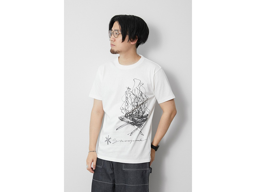 TAKIBI Graphic Tee M White