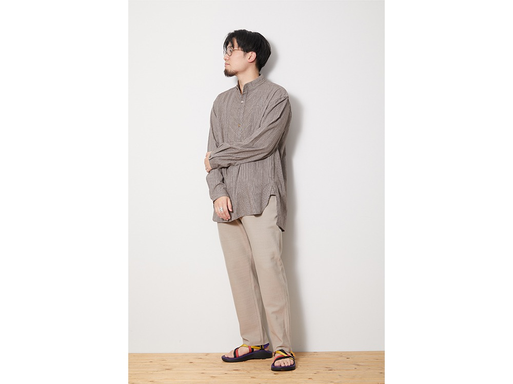 SHIJIRA Long Shirt L Brown
