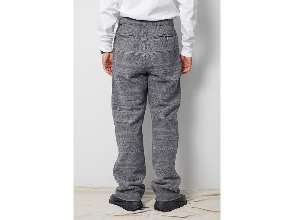 Cotton Silk Jacquard Easy Pants L Ecru