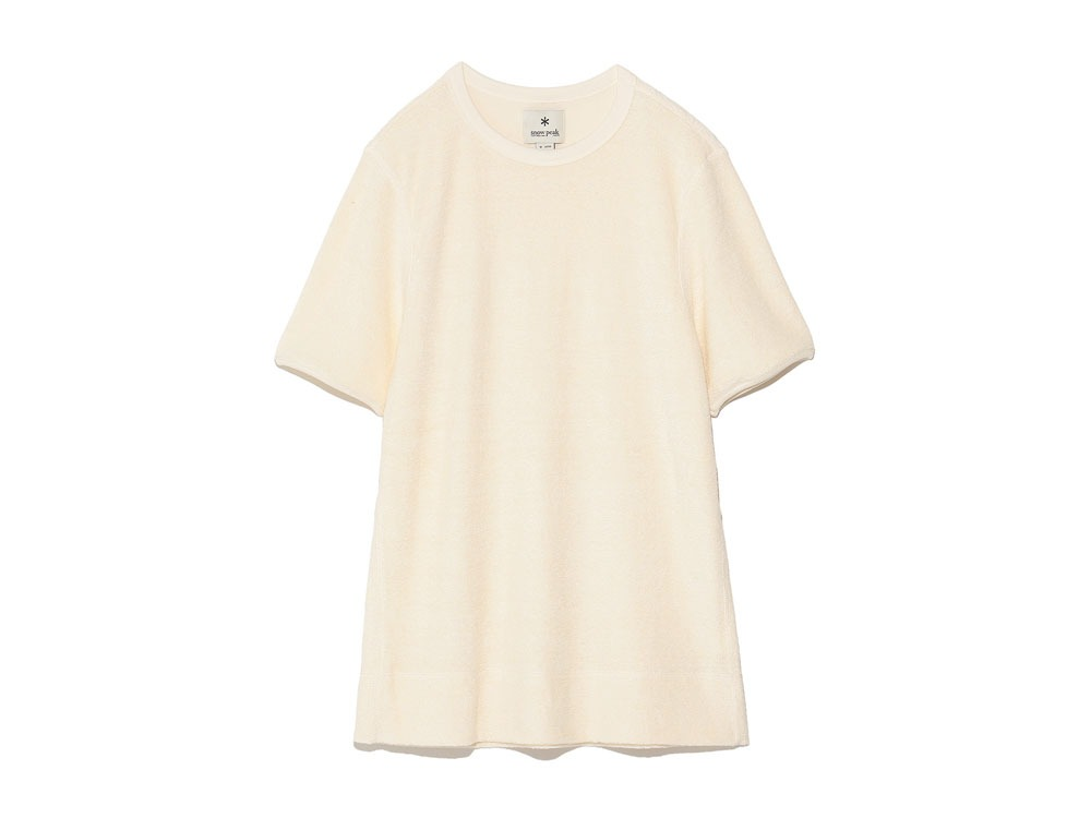 Linen Pile Tshirt M Ecru0