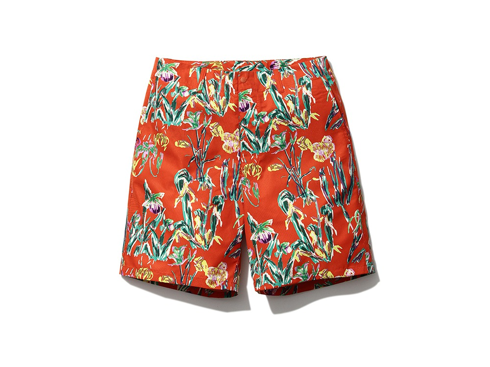 Printed Quick Dry Shorts M Orange