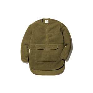 Thermal Boa Fleece Pullover L Olive