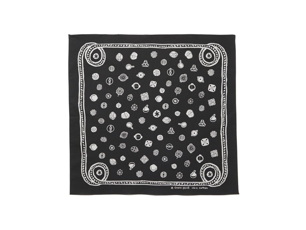 Cotton SP Dot Bandana One Black