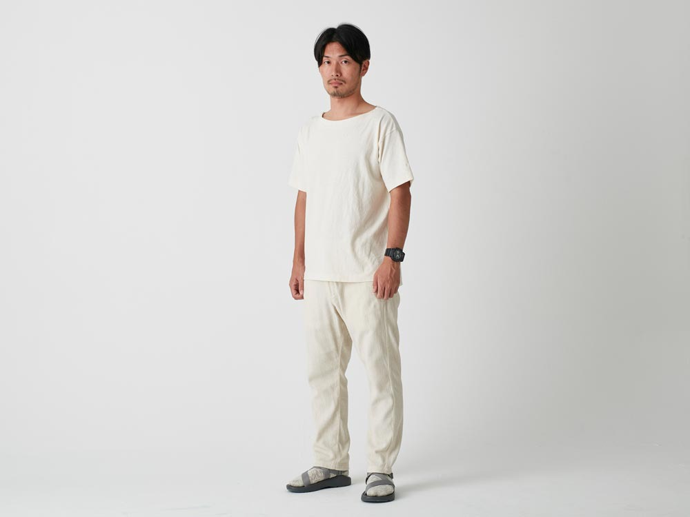 Spec Dyed OX Noragi Pants M Ecru1