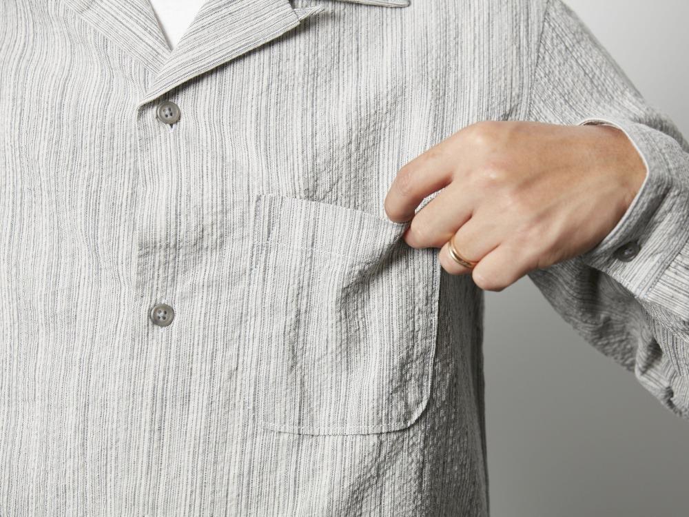 シジラ オープンカラーシャツ 1 ブラック