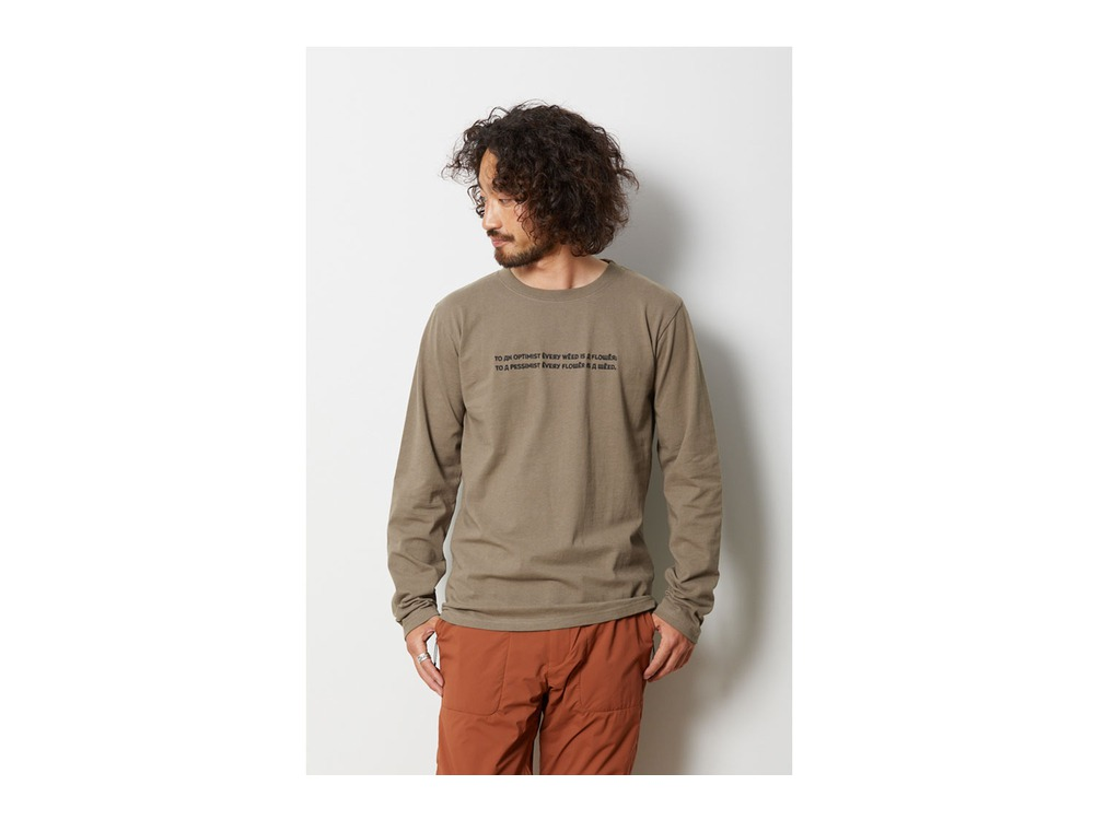 Typography ロングスリーブ Tシャツ S Black