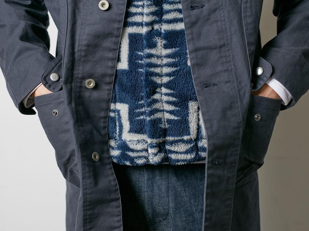 TAKIBI Shop Coat S Navy8