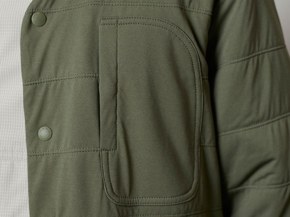 FlexibleInsulatedCardigan  M Olive5