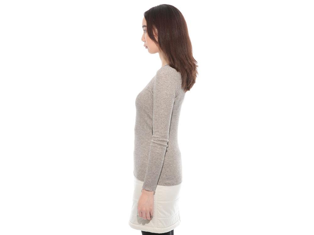 W's Yak/Cotton Rib Shirt 1 M.Grey3