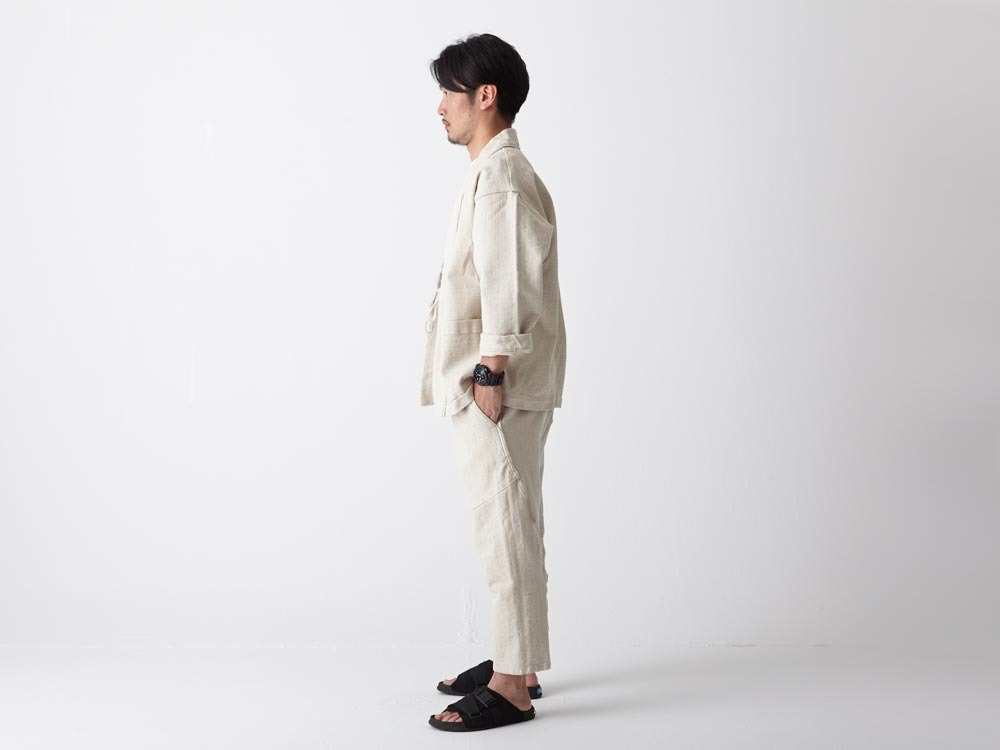 Linen HAORI Pants M Ecru2