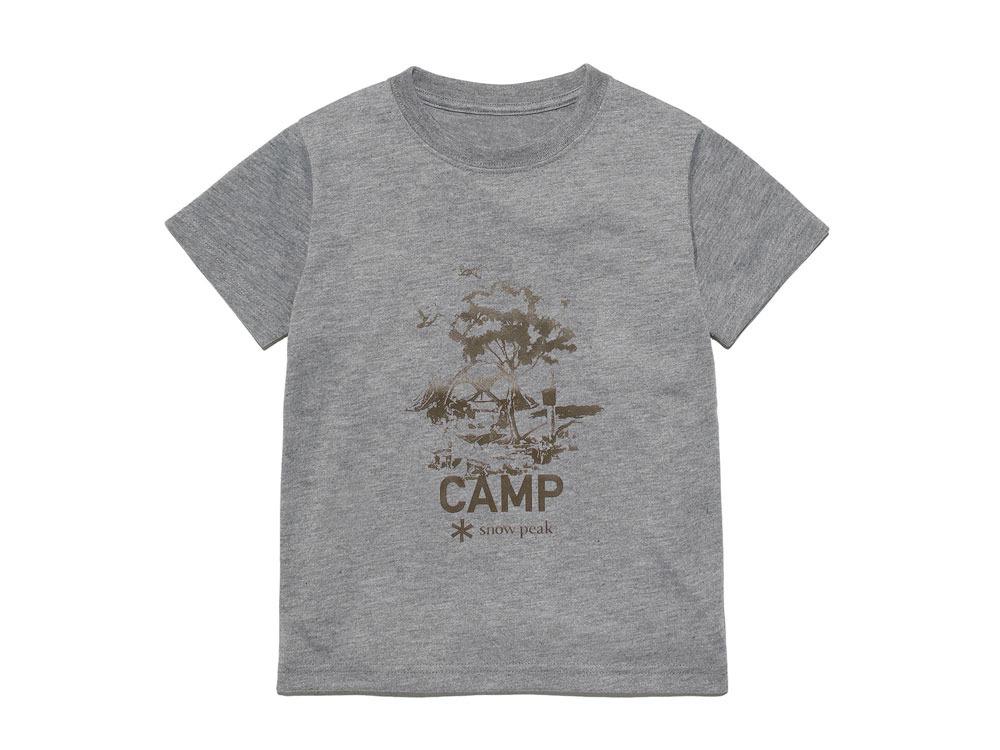 Kid's Printed Tshirt:Camp Field 1 Grey0