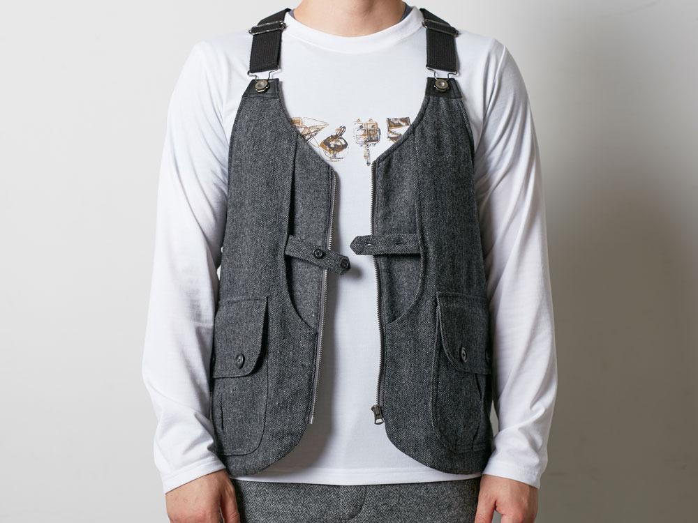 Wool TAKIBI Vest M Grey1