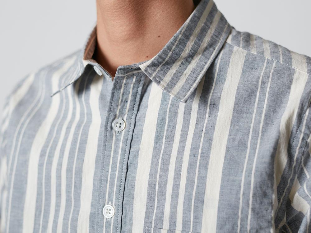OrganicStripedShirt S  Navy4