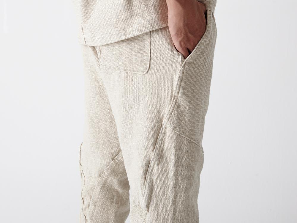 Linen HAORI Pants M Ecru5