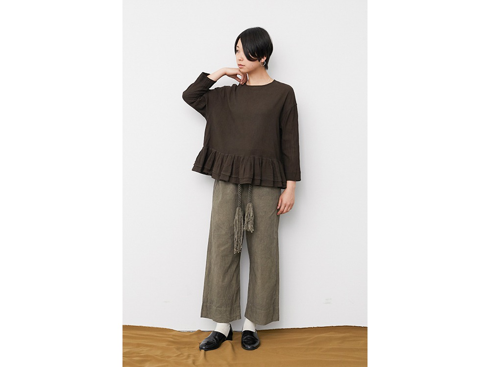 OG Cotton Pleated Pullover 2 Ecru