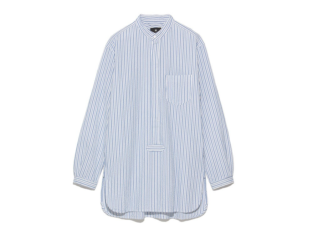 Striped Long Shirt M White0