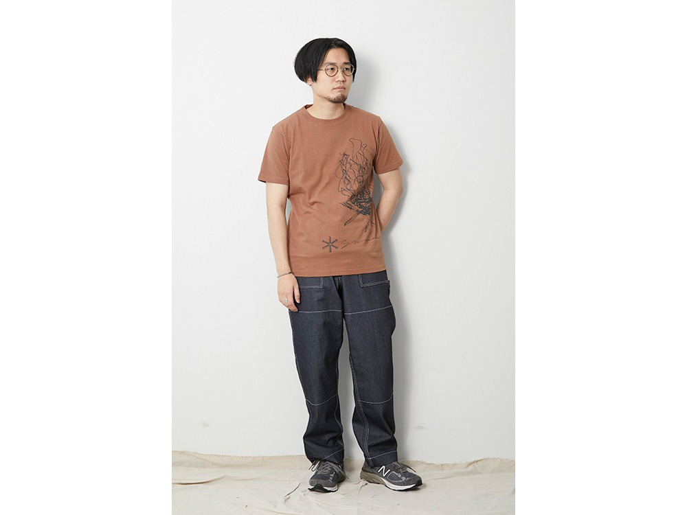 TAKIBI Graphic Tee XL Orange