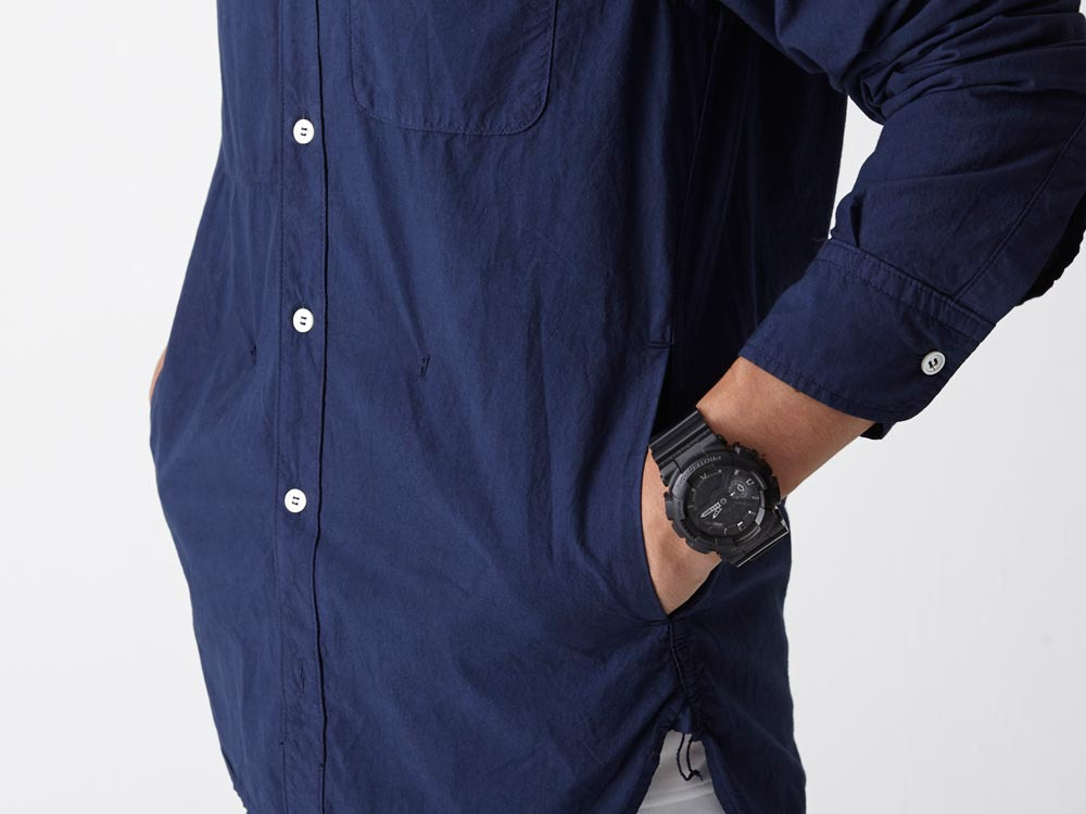 Organic Typewriter Shirt S Navy6