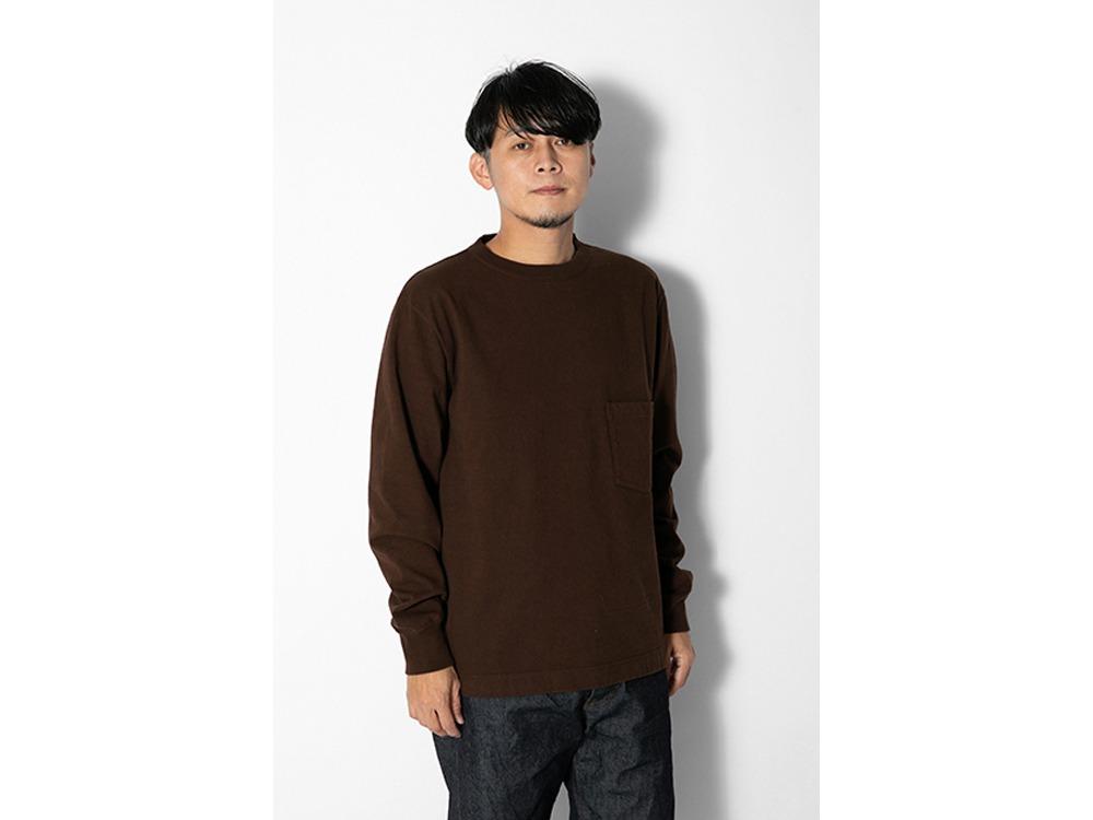 Heavy Cotton L/S Tshirt M Brown