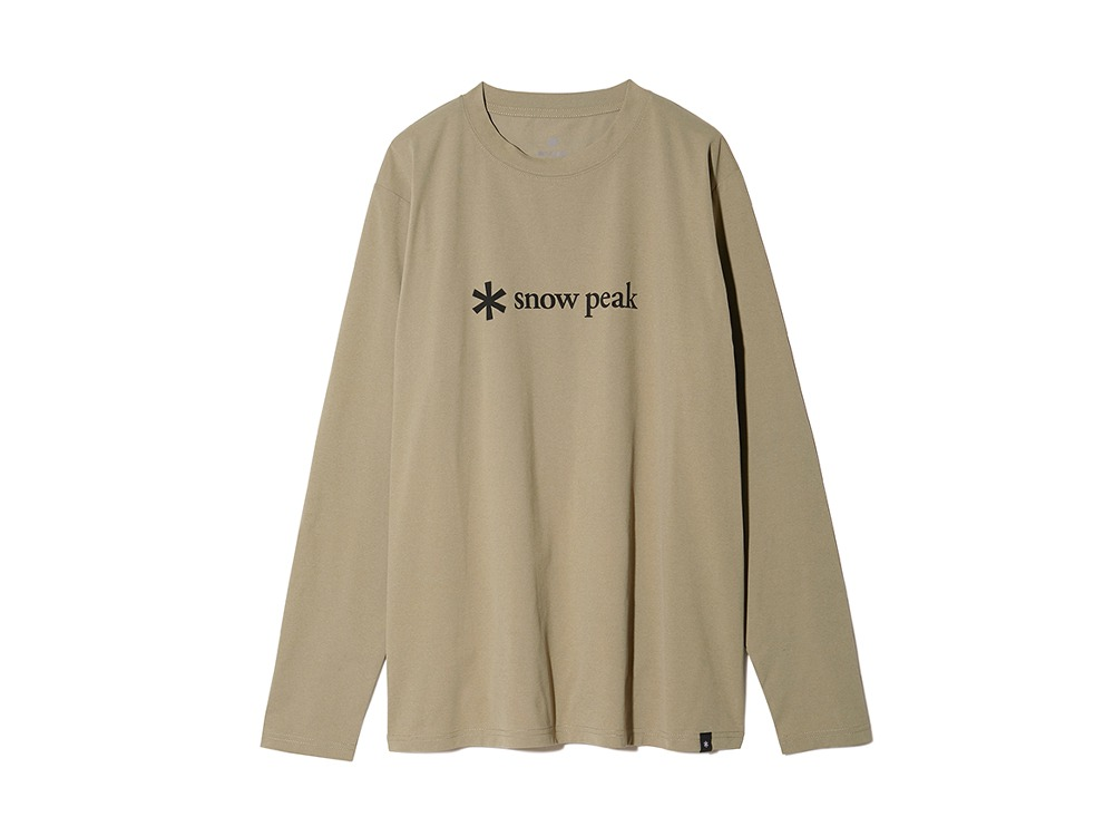 MM Printed Logo L/S Tee XL Beige