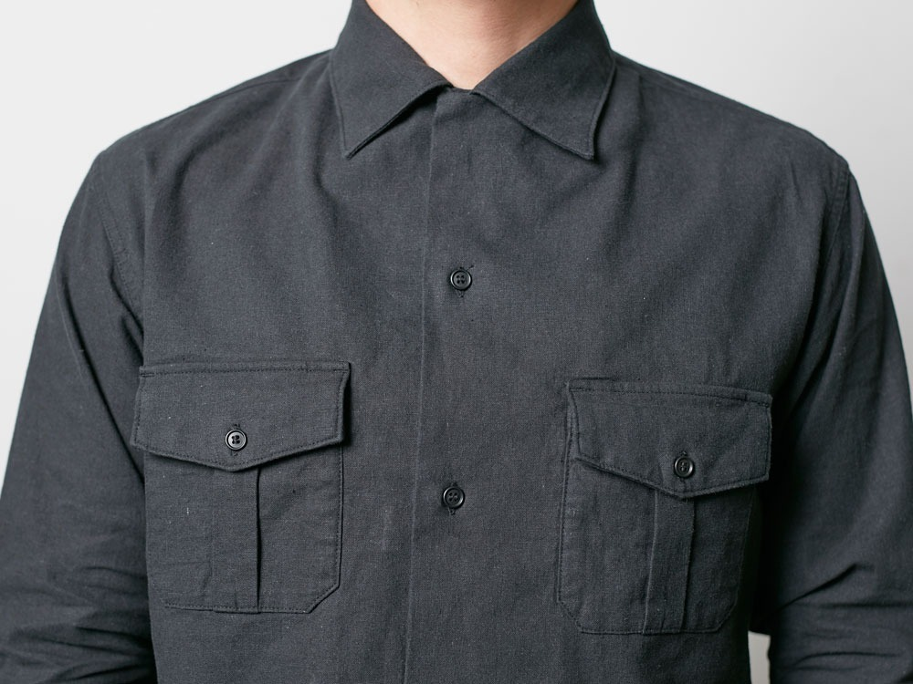 Safari Linen Shirt M Black8