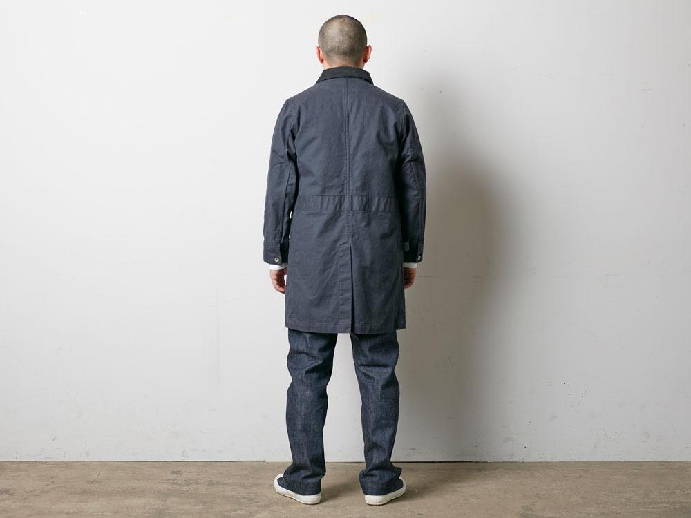 TAKIBI Shop Coat S Navy4