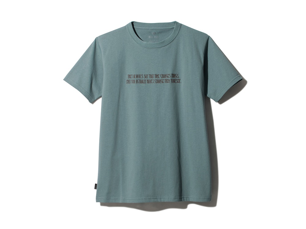 Typographical Tee #7 XL Light Blue