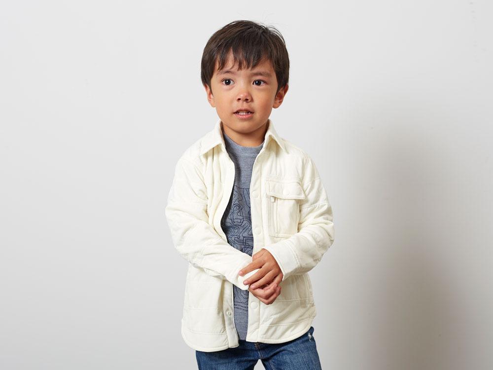 キッズフレキシブルインサレーションシャツ  4 ホワイト