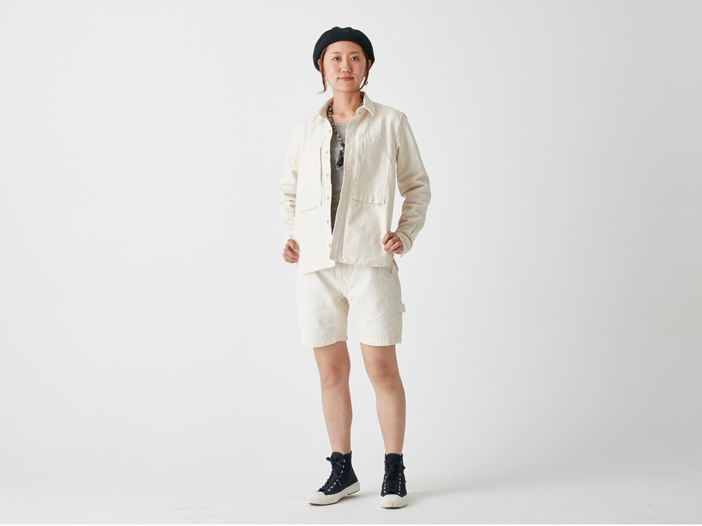 Okayama OX Shorts 2 Ecru2