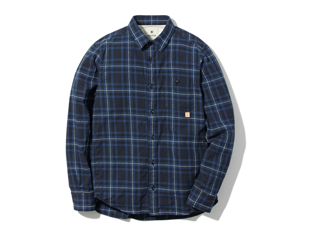 Check Flannel Shirt L Navy0