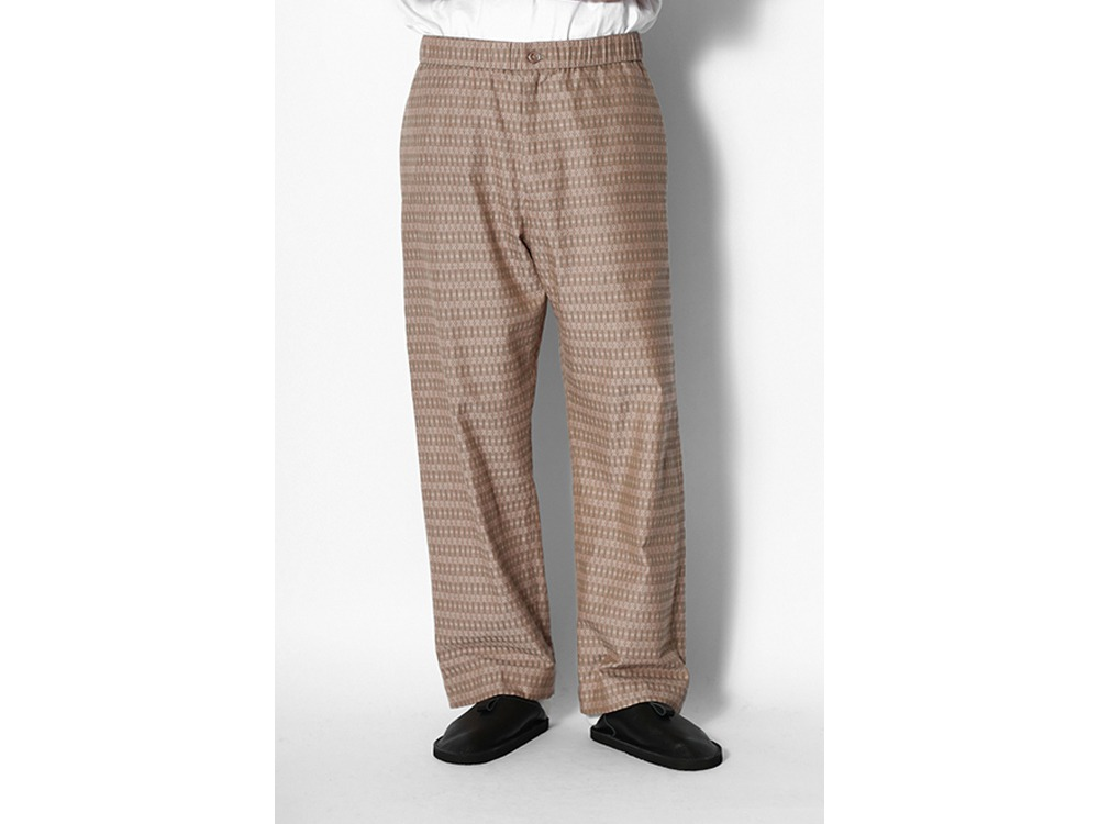 Cotton Dobby Easy Pants M Brown