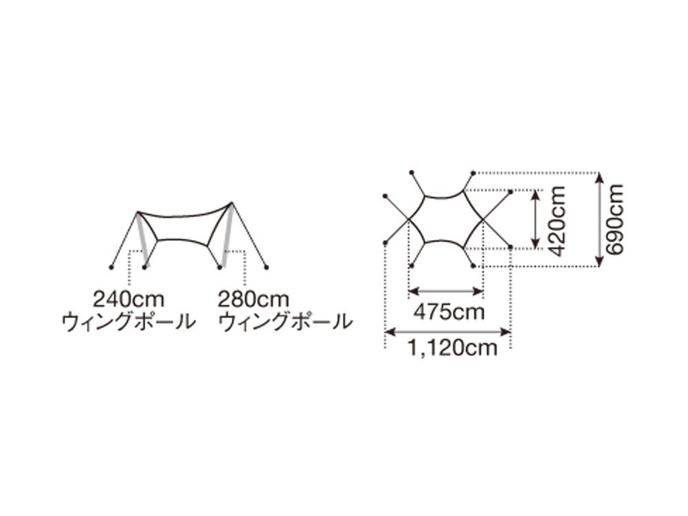 """HDタープ""""シールド""""・ヘキサ(M)"""
