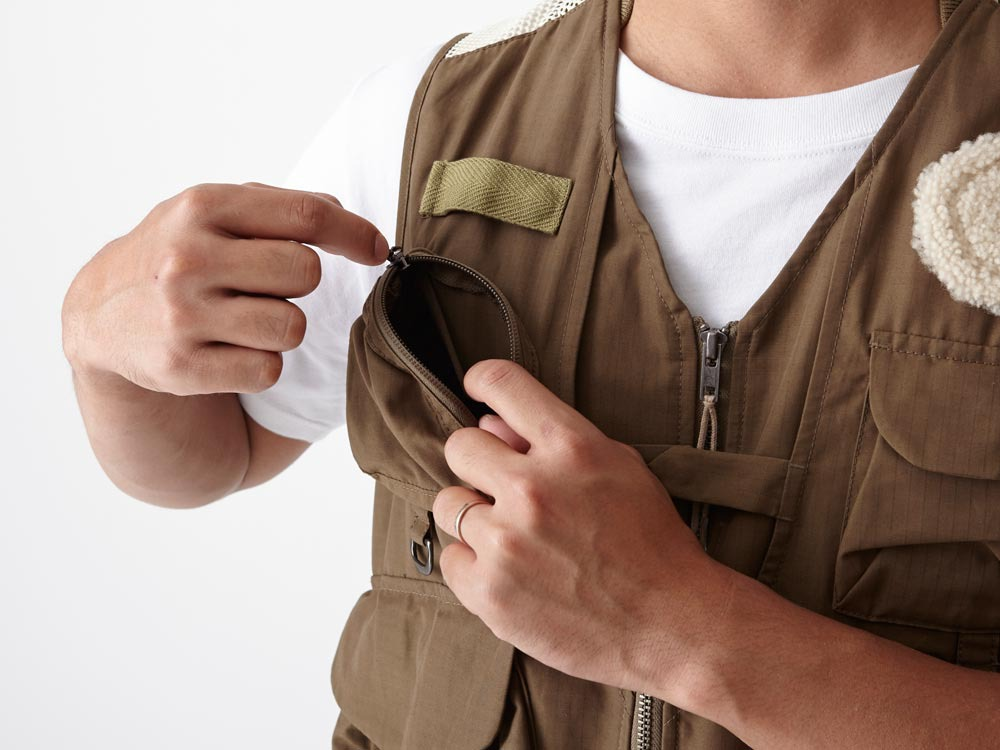 Utility Fishing Vest #2 1 Brown7