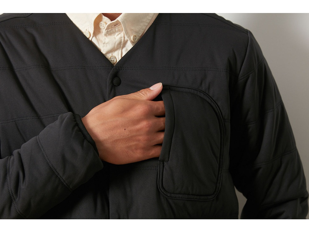 Flexible Insulated Cardigan 1 Black