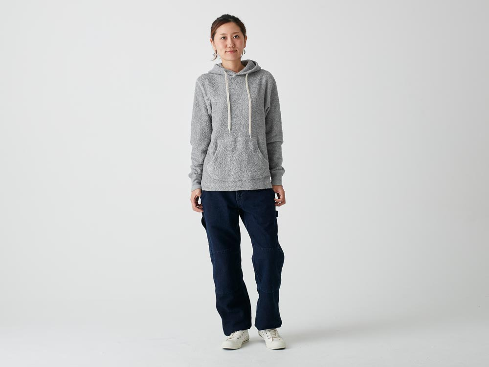 Long Loop Sweat Hoodie M Grey1