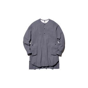 Cotton Silk Serge Long Shirt