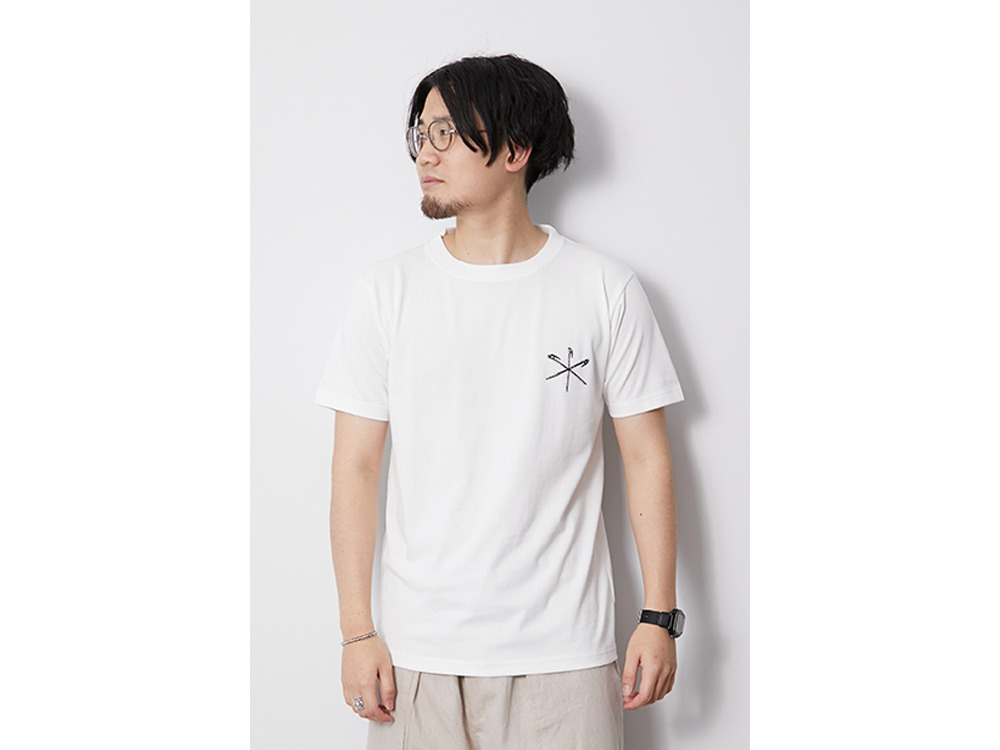 Printed Tshirt Peg & Hammer L White