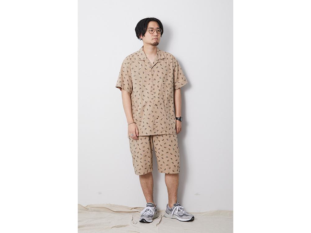 OG Cotton Poplin Paisley Shirt M BD