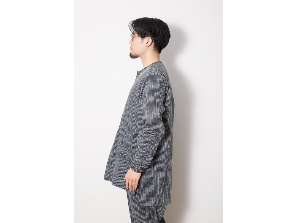 C/R Light Stripe Sleeping Shirt S BL