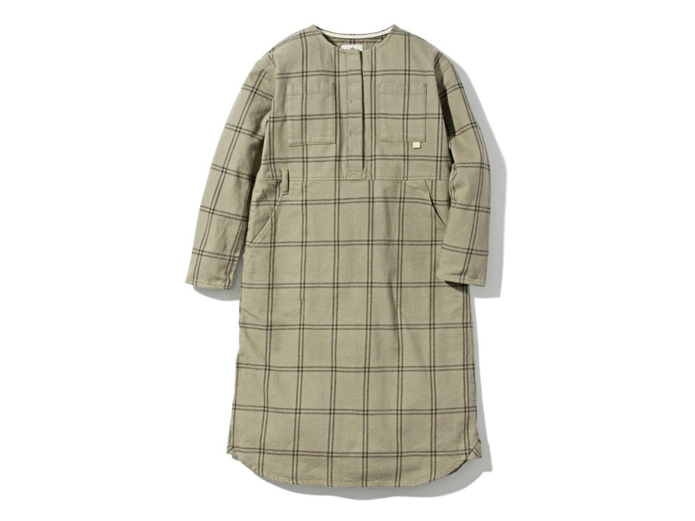 W's Check Heavy Flannel Dress 1 Beige0