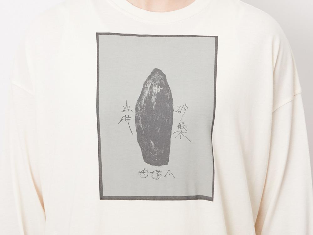 Printed Long T-shirt #2 1 Ecru×Sage