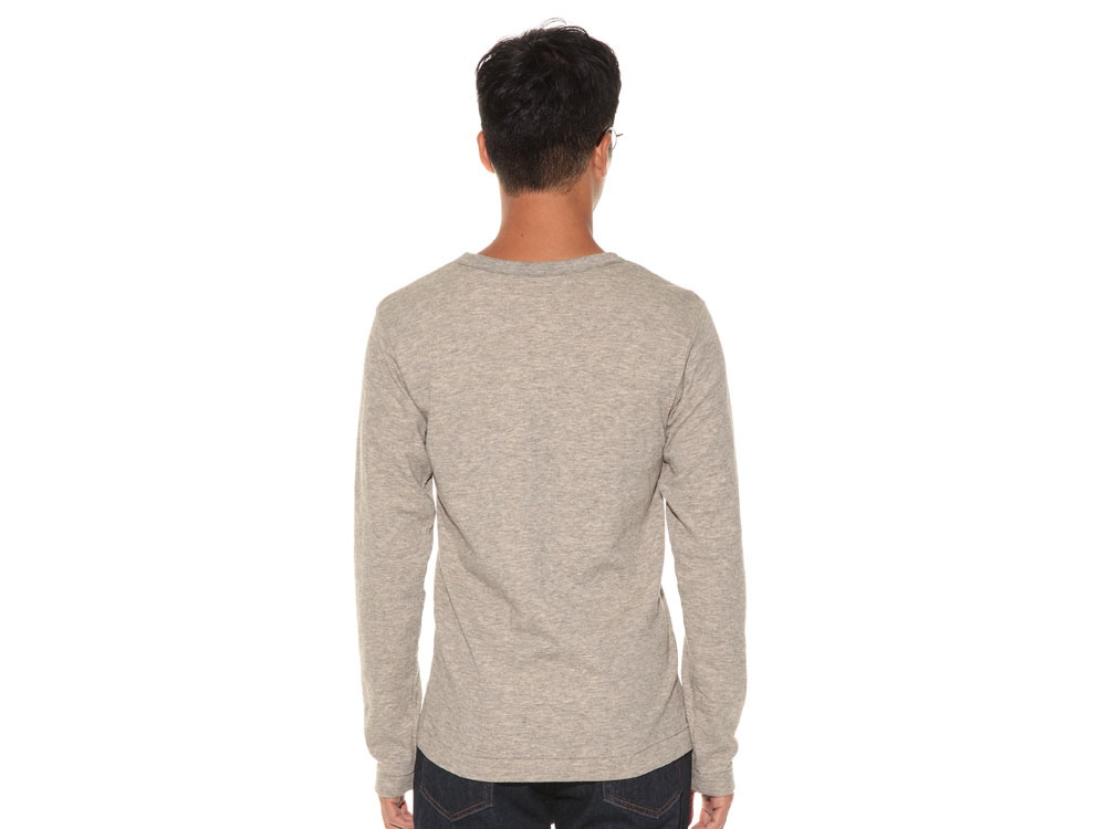 Yak/Cotton Double Knit Long Sleeve S M.Grey4