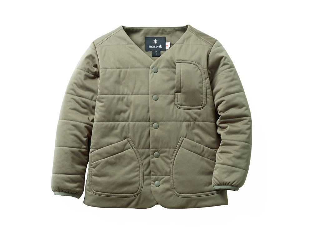 Kids Flexible Insulated Cardigan 1Olive