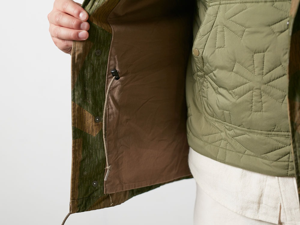 Printed Military Jacket L Khaki8
