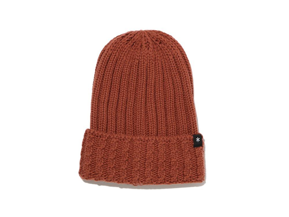 Washable Wool Knitted Cap One Orange